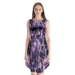 Agate Naturalpurple Stone Sleeveless Chiffon Dress