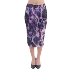 Agate Naturalpurple Stone Midi Pencil Skirt