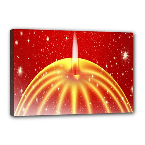 Advent Candle Star Christmas Canvas 18  x 12