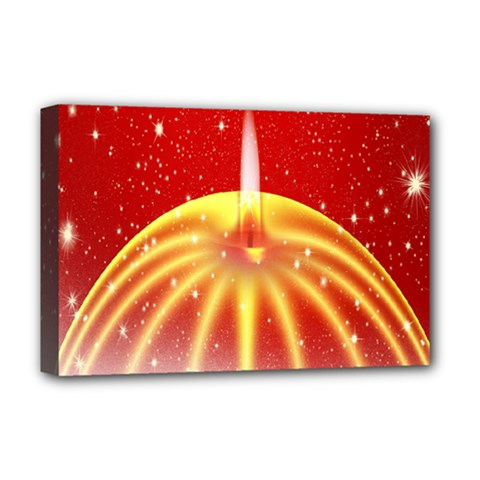 Advent Candle Star Christmas Deluxe Canvas 18  x 12