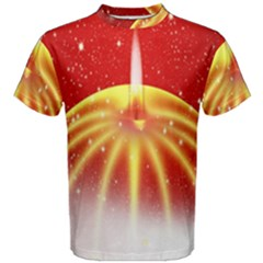 Advent Candle Star Christmas Men s Cotton Tee