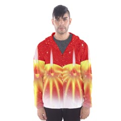 Advent Candle Star Christmas Hooded Wind Breaker (Men)