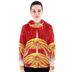 Advent Candle Star Christmas Women s Zipper Hoodie