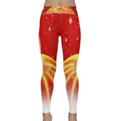 Advent Candle Star Christmas Classic Yoga Leggings