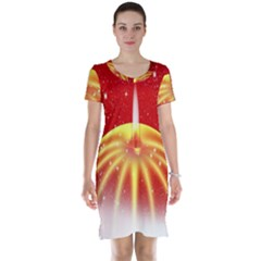 Advent Candle Star Christmas Short Sleeve Nightdress