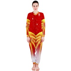 Advent Candle Star Christmas Onepiece Jumpsuit (ladies)