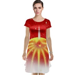 Advent Candle Star Christmas Cap Sleeve Nightdress