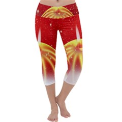 Advent Candle Star Christmas Capri Yoga Leggings