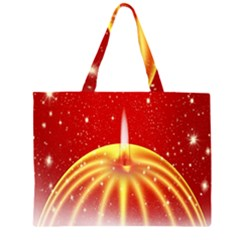 Advent Candle Star Christmas Large Tote Bag
