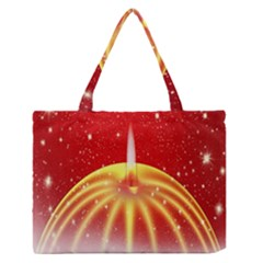 Advent Candle Star Christmas Medium Zipper Tote Bag