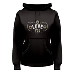 Black Love From My Heart  Women s Pullover Hoodie