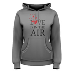 Grey love is in the air  Women s Pullover Hoodie