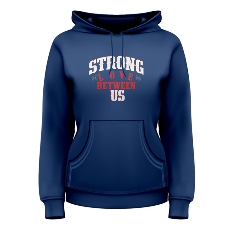 Blue strong love between us Women s Pullover Hoodie
