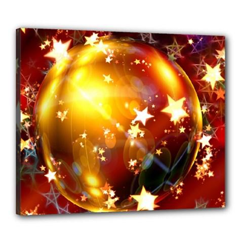 Advent Star Christmas Canvas 24  x 20