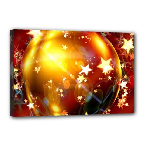 Advent Star Christmas Canvas 18  x 12