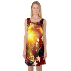 Advent Star Christmas Sleeveless Satin Nightdress