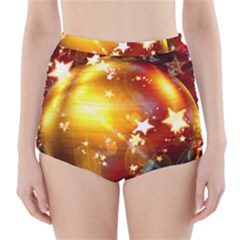 Advent Star Christmas High Waisted Bikini Bottoms
