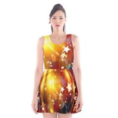 Advent Star Christmas Scoop Neck Skater Dress
