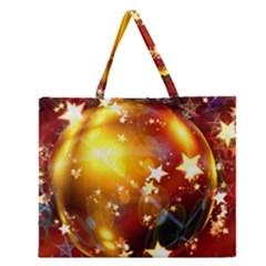 Advent Star Christmas Zipper Large Tote Bag