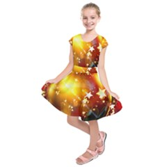 Advent Star Christmas Kids  Short Sleeve Dress