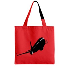 Air Plane Boeing Red Black Fly Grocery Tote Bag