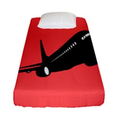 Air Plane Boeing Red Black Fly Fitted Sheet (single Size)