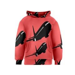 Air Plane Boeing Red Black Fly Kids  Pullover Hoodie