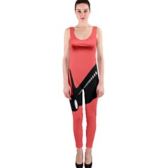 Air Plane Boeing Red Black Fly Onepiece Catsuit