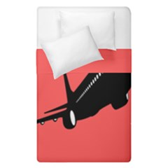Air Plane Boeing Red Black Fly Duvet Cover Double Side (single Size)