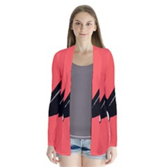 Air Plane Boeing Red Black Fly Cardigans