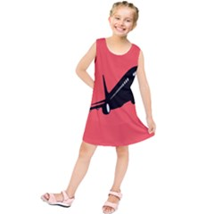 Air Plane Boeing Red Black Fly Kids  Tunic Dress