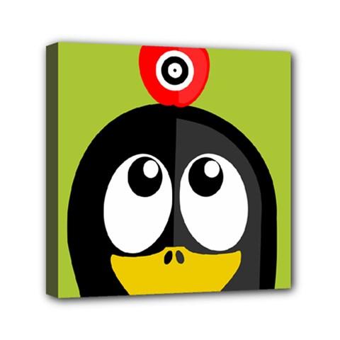 Animals Penguin Mini Canvas 6  X 6
