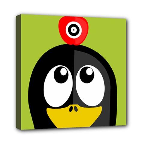 Animals Penguin Mini Canvas 8  X 8