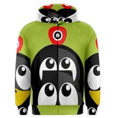 Animals Penguin Men s Zipper Hoodie