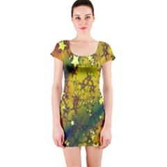 Advent Star Christmas Short Sleeve Bodycon Dress