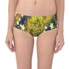 Advent Star Christmas Mid-Waist Bikini Bottoms