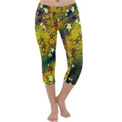 Advent Star Christmas Capri Yoga Leggings