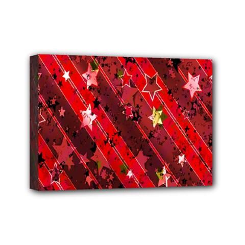 Advent Star Christmas Poinsettia Mini Canvas 7  x 5