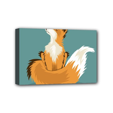 Animal Wolf Orange Fox Mini Canvas 6  X 4