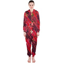 Advent Star Christmas Poinsettia Hooded Jumpsuit (Ladies)