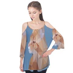 Animals Face Cat Flutter Tees