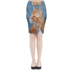 Animals Face Cat Midi Wrap Pencil Skirt