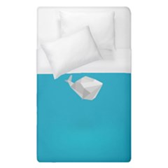Animals Whale Blue Origami Water Sea Beach Duvet Cover (single Size)