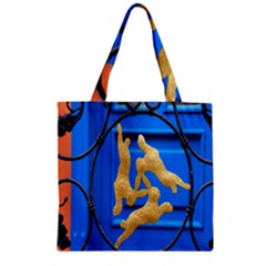 Animal Hare Window Gold Zipper Grocery Tote Bag