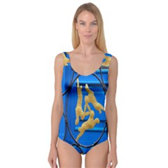 Animal Hare Window Gold Princess Tank Leotard