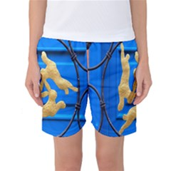 Animal Hare Window Gold Women s Basketball Shorts