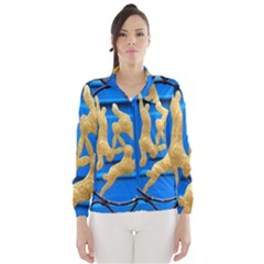 Animal Hare Window Gold Wind Breaker (women)