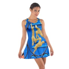 Animal Hare Window Gold Cotton Racerback Dress