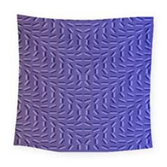 Calm Wave Blue Flag Square Tapestry (large)