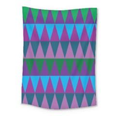 Blue Greens Aqua Purple Green Blue Plums Long Triangle Geometric Tribal Medium Tapestry